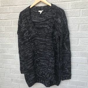 Silence + Noise High Low Scoop Neck Sweater